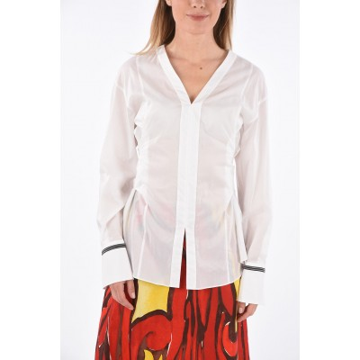 Brunello Cucinelli Blouse with Back Bow and Jewel Cuffs Best 7CQFTT14