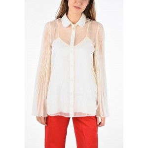 Gucci Women's silk Sheer angel sleeve blouse Lowest Price JDGHZD1O