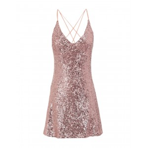 TOPSHOP Womens SEQUIN STRAPY SLIP Pastel pink expres 15091736SF