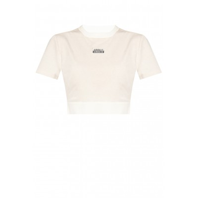 Dolce & Gabbana Womens Cropped T-shirt with logo Popular GN4346 0-OFWHME