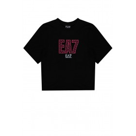 Dolce & Gabbana Womens Cropped T-shirt with logo Selling Well 3KTT23 TJ1TZ-1200