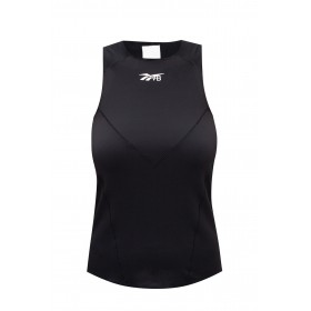 Dolce & Gabbana Womens Ribbed sports top with logo  GH4715 0-BLACK
