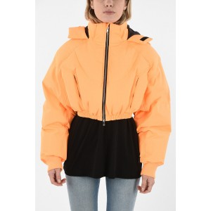 Chenpeng Womens Cropped Down Jacket with Hood QYAEF2AO