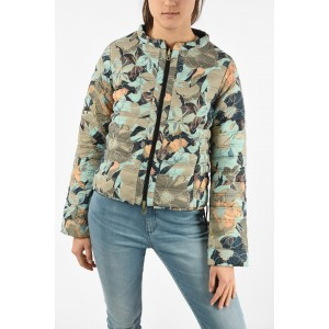 Duvetica Women's Lightweight Floral Printed Reversible EARINE-ERRE Down Jacket MBI9A1A4