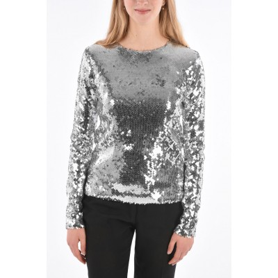 Andamane Women's Sequined BETTIE Long Sleeve Top Casual Q4974OBA