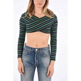 Opening Ceremony Striped Crop Top DITS35SS