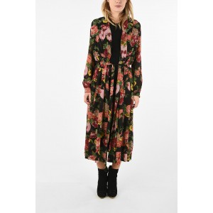 Comme Des Garçons Womens JUNYA WATANABE Floral Printed Double Layer midi dress outlet 3OE69BXO