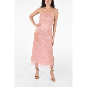 Jacquemus Floral Embroidered Halterneck Dress XQQ3F263