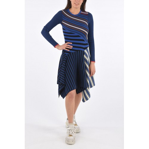 Opening Ceremony Women's Striped Asymmetrical Dress The Top Selling FYFMOII3