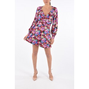 Pinko Womens Floral RICORRERE Wrap Dress with Belt on sale near me E9FE0M8Q