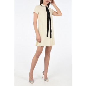 Red Valentino Women Short Sleeve Mini Dress with Bow Selling Well YNX6Q2S2