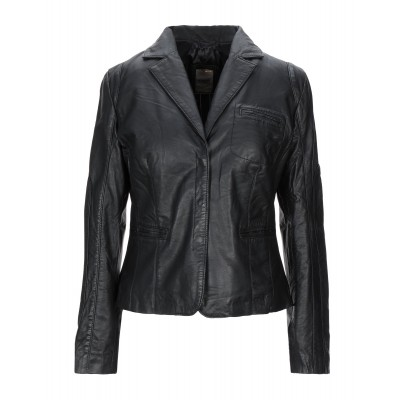 ANDREA D'AMICO Womens Leather jacket Black Clearance 41991994RA