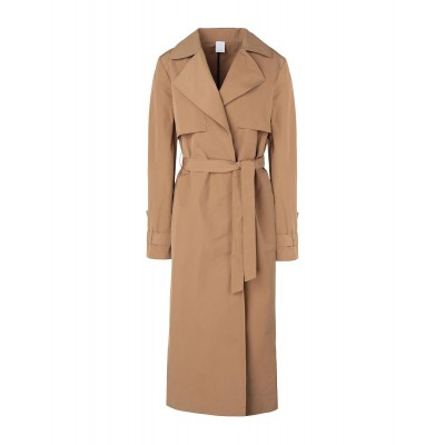 8 by YOOX Womens LIGHTWEIGHT BELTED WRAP TRENCH Black 16008645GC